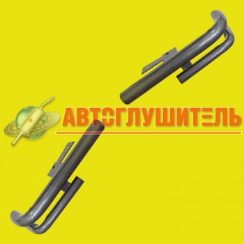защита заднего бампера уголки двойные шевроле нива - копия